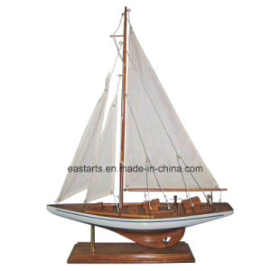Wooden School Toy for Kids Delicate Sailing Ship