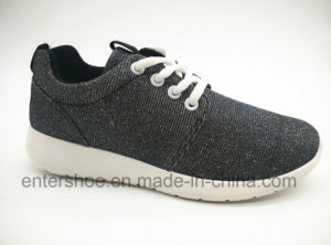 New Design Women Injection Sports Shoes with Glitter Upper (ET-JRX160109W)