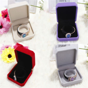 Luxurious Pile Coating Paper Gift Box for Jewelry Packaging pictures & photos
