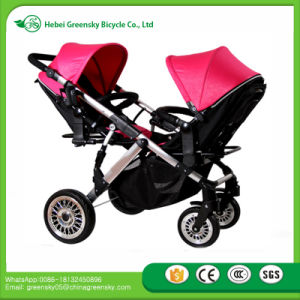 New Best Selling Baby Twin Stroller with Umbrella/Baby Stroller Tricycle for Two babies pictures & photos