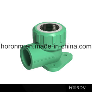 PPR Water Pipe Fitting (90 DEG FAMALE THREAD ELBOW WITH PLATE)