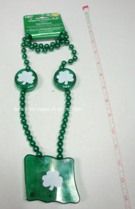 Plasic St Patrick′s Day Light up Necklace (LP005) pictures & photos