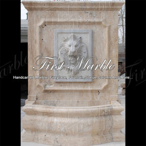 Antique Travertine Wall Fountain for Garden Decoration Mf-1045
