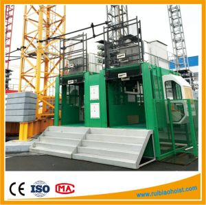 Ce Approved Building Lifting Hoist Double Cage pictures & photos