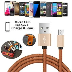 Colorful PU Leather USB Charging Data Cable for Mobile Phone Accessories pictures & photos