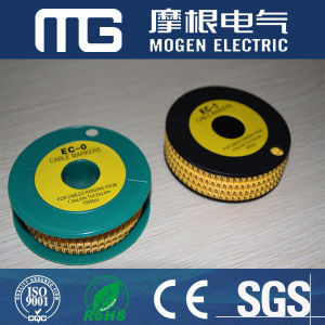 High Quality PVC Yellow Cable Marker (EC-0) pictures & photos