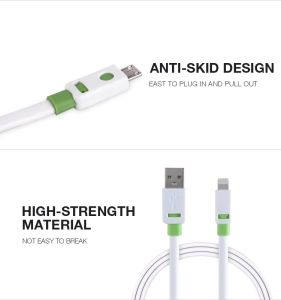 Mobile Phone Accessories Flat Double Color Noodle USB Cable for Smart Phone pictures & photos