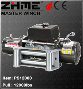 Series Wound Motor Driven 12000lbs Pull off Road Winch with Wire Rope