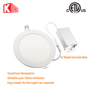 8W 12W Dimmable Recessed LED Round Panel Light