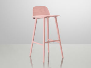 Modern Hotel Cafe Shop Restaurant Wooden Bar Stool