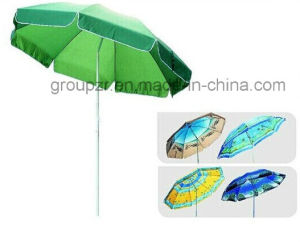 Flower Rainbow Parasol Beach Umbrella Outdoor