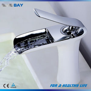 White Color Brass Bathroom Accessories Water Tap pictures & photos