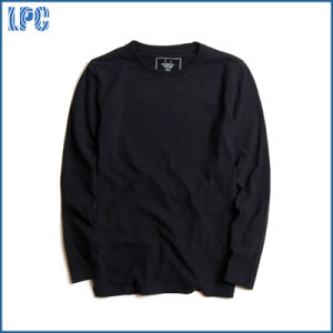 Custom Round Neck Long Sleeve Cotton Cheap Men T Shirt pictures & photos