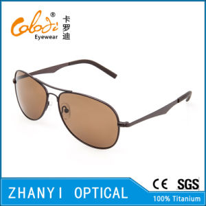 New Arrival Titanium Sun Glasses for Driving with Polaroid Lense (T3026-C3)
