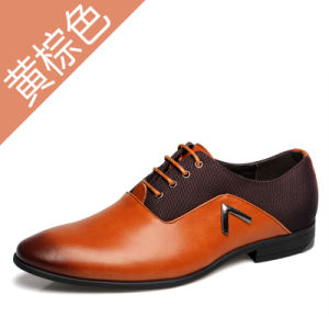 Manufacturers Selling 2017 New Men′s Business Suits Leather Shoes Wholesale pictures & photos