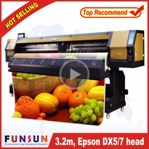 High Quality Funsunjet Fs-3202g 3.2m/10FT Outdoor Wide Format Printer with Two Dx5 Heads 1440dpi for Vinyl Sticker Printing pictures & photos