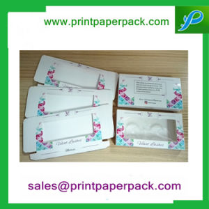 Customized Folding Velvet Eyelash Paper Packing Box Cosmetic Box with Window pictures & photos