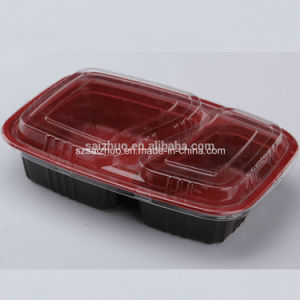 Rectangle Plastic Food Container 2 Compartment (SZ-A862) pictures & photos