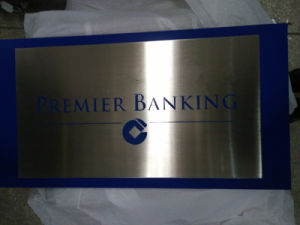 Clear Customized Different Shapes Stainless Steel Plaque pictures & photos