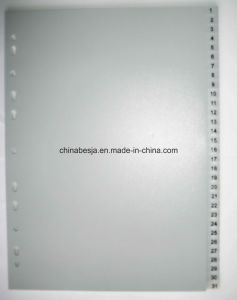 31 Pages Grey Color PP Index Divider, China Manufacturer of Index Divider, China Factory of PP Index Divider