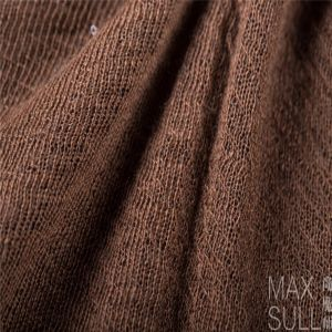 Wool/ Cotton /Acrylic Mixed Wool Fabric for Autumn in Brown
