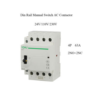 4p 63A Ict Manual Control Household AC Magnetic Contactor pictures & photos