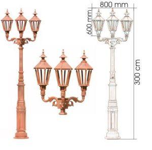 China Height 3m Lamp Post Garden
