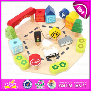 Hot Sale Children Pretend Play Wooden Garage Toys, Interesting Kids Car Parking Toy W04b026 pictures & photos