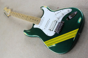 Hanhai Music/St Style Green Retro Electric Guitar with Maple Neck pictures & photos