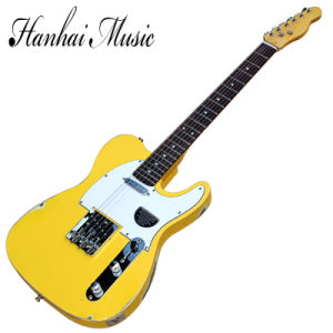 Hanhai Music / Tl Style Electric Guitar with Yellow Retro Body pictures & photos