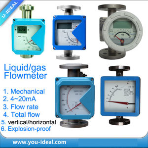 Metal Rotameter Flow Meter, Competitive Rotary Gas, Liquid Flowmeter, Flow Meter Flow Rate, Total Flow, 4~20mA