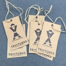 China Wholesale Kraft Paper Custom Hang Tag with Free Designing