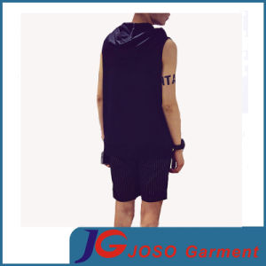 Fashion Striped Sleeveless Hooded T-Shirt Suit for Men (JS9035m) pictures & photos