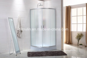 Simple Shower Room with Fabric Glass Design pictures & photos
