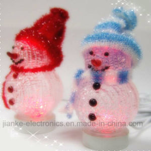led flashing snowman indoor christmas decoration with logo print 5004