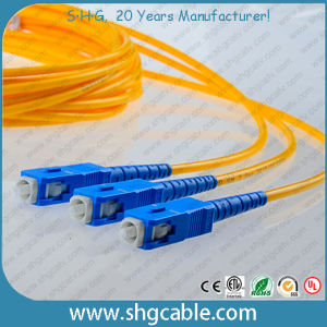 Single Mode 9/125um Simplex FC/Upc-Sc/Upc Fiber Optical Patch Cord pictures & photos