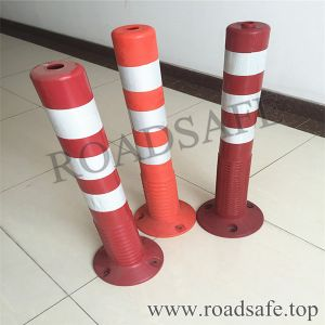 Highway Removable Orange 75cm PU Plastic Traffic Bollard pictures & photos