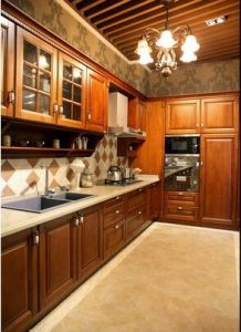 American Style Solid Wood Kitchen Cabinet (cherry 4) pictures & photos