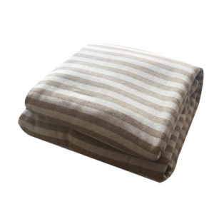 100% Polyester Cationic Fabric Stripe3 Jacquard and Sherpa Blanket