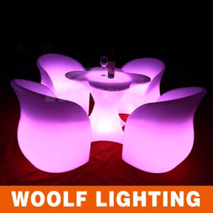 Modern Plastic Waterproof Lighted LED Garden Furniture