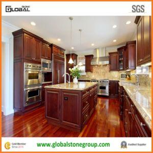China New Venetian Gold Granite Kitchen Countertop With Backsplash