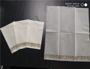 Disposable Linen Feel Paper Guest Towels Decorative Cloth Like Soft Bathroom Hand Napkins