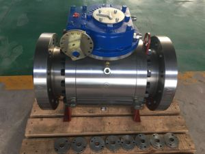 Electric Reduced Bore Forged Trunnion Ball Valve pictures & photos