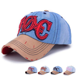 6-Panel Promotional Embroidered Cotton Denim Baseball Caps (YKY3091) pictures & photos
