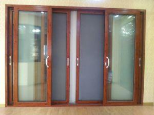 High Insulation Aluminum Sliding Glass Doors With Metal Mesh