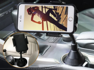 Long Arm Cell Phone Cup Holder with 360° Rotatable Cradle for Most Smartphones