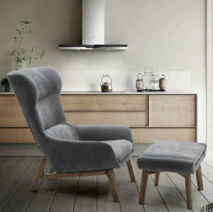 China Grey Color Wooden Furniture Living Room Lounge Chairs With Ottoman Lt 01 China Chair Ottoman