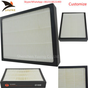 Clean Room Fresh Air Disposable Spray Booth Glassfiber PTFE Media HEPA  Filter