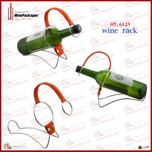 Single Bottle Novel Metal Frame Wine Display Rack (6429)