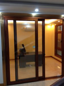 130HD Wood-Grain Sliding Door